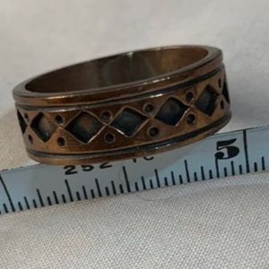 Nakai Hand stamped VTG copper ring-choice